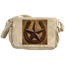 western country horseshoe texas star Messenger Bag