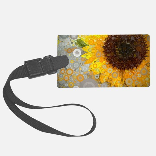 modern abstract circle pattern y Luggage Tag