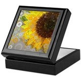 Abstract sunflower Square Keepsake Boxes