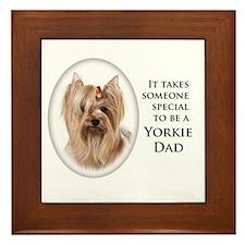 Yorkie Dad Framed Tile