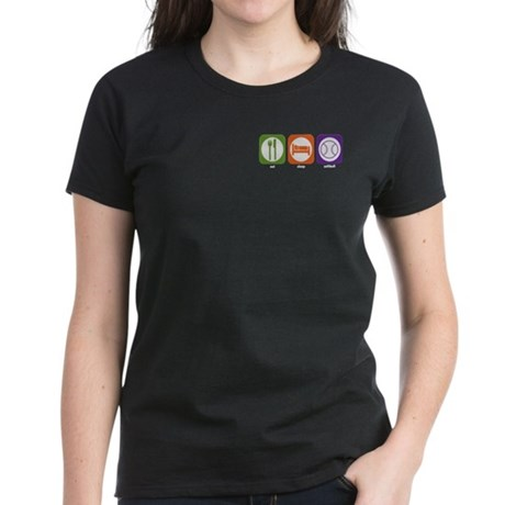 Eat Sleep Softball Women's Dark T-Shirt