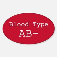 Blood Type AB- Decal