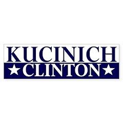 Kucinich-Clinton 2008 bumper sticker
