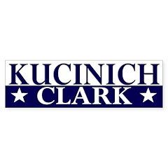 Kucinich-Clark 2008 bumper sticker