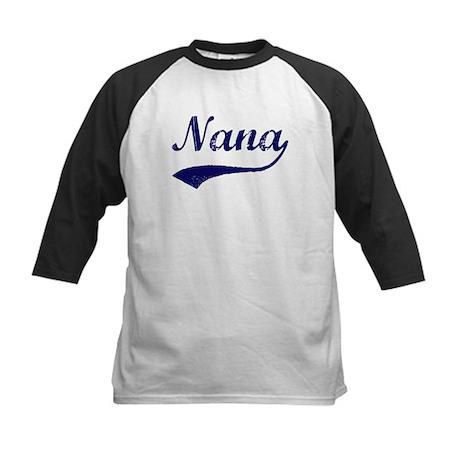 Vintage (Blue) Nana Kids Baseball Jersey