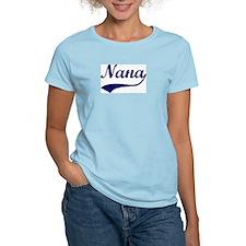 Vintage (Blue) Nana Women's Pink T-Shirt