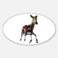 carousel okapi Oval Stickers