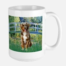 Lily Bridge & Red Merle Aussie Large Mug