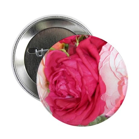 """MN_Make_Mine_Pink_Roses_1 2.25"""" Button"""