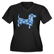 Hawaiian Dachshund Doxie Plus Size T-Shirt