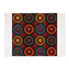 Concentric Sets 5x7Area Rug