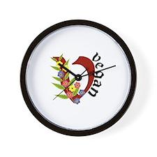 Vegan Vase Wall Clock