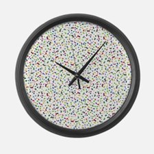 Confetti Falling Large Wall Clock