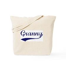 Vintage (Blue) Granny Tote Bag