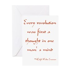 Every Revolution Greeting Cards