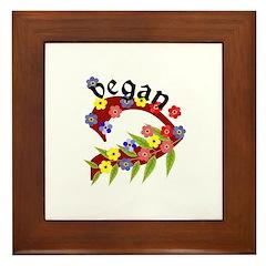 Vegan Vase Framed Tile