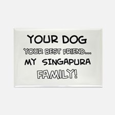My Singapura Cat is Family Rectangle Magnet