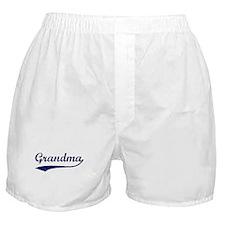 Vintage (Blue) Grandma Boxer Shorts