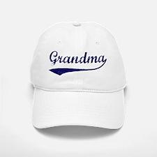 Vintage (Blue) Grandma Baseball Baseball Cap