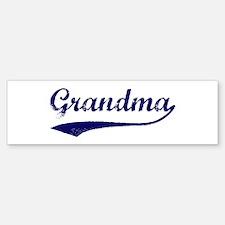 Vintage (Blue) Grandma Bumper Bumper Bumper Sticker