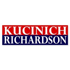 Kucinich-Richardson 2008 bumper sticker
