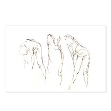 3 Nudes Drawing Postcards (Package of 8)