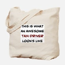 awesome taxi driver Tote Bag