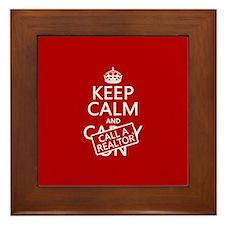Keep Calm and Call A Realtor Framed Tile