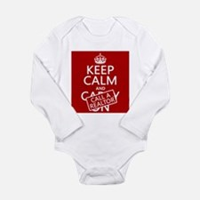 Keep Calm and Call A Realtor Long Sleeve Infant Bo