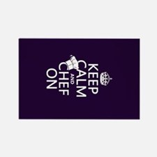 Keep Calm and Chef On Rectangle Magnet (100 pack)