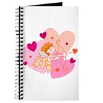 Cute Little Cupid Shooting Arrow Journal