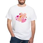 Cute Little Cupid Shooting Arrow White T-Shirt