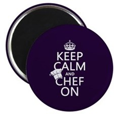 Keep Calm and Chef On Magnet