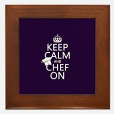 Keep Calm and Chef On Framed Tile