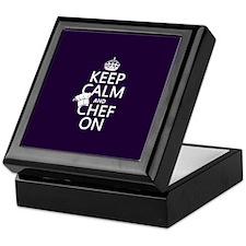 Keep Calm and Chef On Keepsake Box