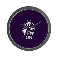 Keep Calm and Chef On Wall Clock