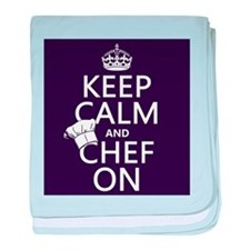 Keep Calm and Chef On baby blanket