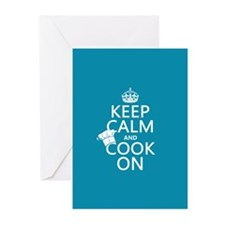 Keep Calm and Cook On Greeting Cards (Pk of 10)
