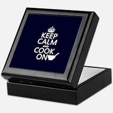 Keep Calm and Cook On Keepsake Box