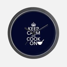 Keep Calm and Cook On Wall Clock