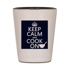 Keep Calm and Cook On Shot Glass