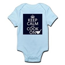 Keep Calm and Cook On Infant Bodysuit