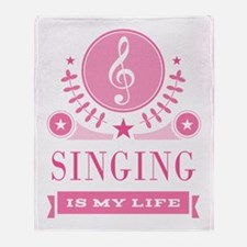 Singing Is My Life Throw Blanket