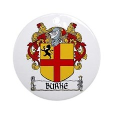 Burke Coat of Arms Ornament (Round)