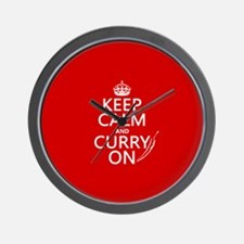 Keep Calm and Curry On Wall Clock