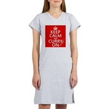 Keep Calm and Curry On Women's Nightshirt