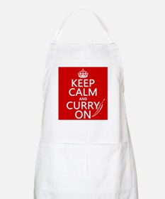 Keep Calm and Curry On Apron