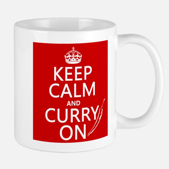 Keep Calm and Curry On Mug