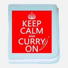 Keep Calm and Curry On baby blanket