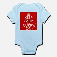 Keep Calm and Curry On Infant Bodysuit